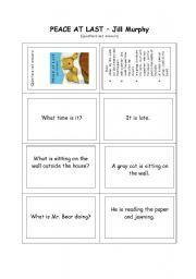 Peace and solidarity worksheets Jill Murphy, Peace At Last, Maths Algebra, Vocabulary Worksheets, Daily 5, Teaching English, School Ideas, Preschool, Reception