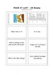 peace at last worksheets activities - Google Search