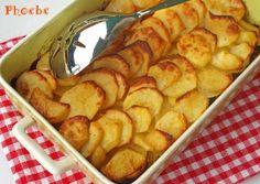 Πατάτες Άννα Cookbook Recipes, Sweets Recipes, Cake Recipes, Cooking Recipes, Desserts, Anna, Greek Recipes, Pretzel Bites, Potato Recipes