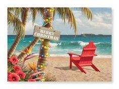 Christmas Paradise Cards #christmas, #cards, #beach