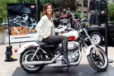Tricia Helfer Canadian Actress and motorcycle rider