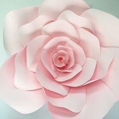 Paper flower template paper flower wall DIY paper by PaperFlora