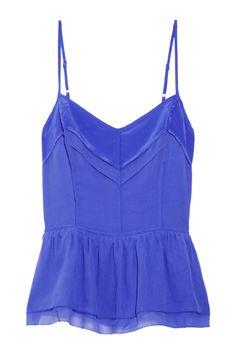 Juicy Couture|Cutout silk-chiffon top|NET-A-PORTER.COM