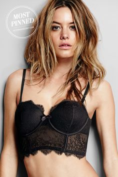 Every lingerie wardrobe needs a black lace bustier.