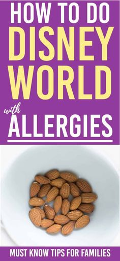 How to Handle Disney World With Food Allergies Disney world with food allergies can be a challenge Disney World Rides, Disney World Food, Disney World Florida, Disney World Planning, Walt Disney World Vacations, Disney Parks, Disney Worlds, Disney Travel, Family Vacations