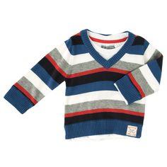 Pumpkin Patch Infant Boy Cool to Be Hip Stripe Sweater Twofer #VonMaur