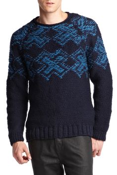 Edun | lovely pattern on crewneck sweater