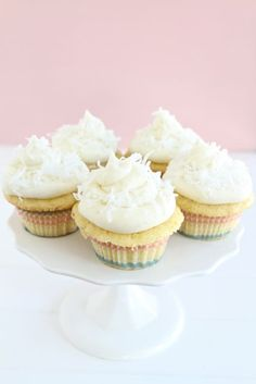 Coconut Lime Cupcakes   Coconut Cupcake Recipe   Two Peas & Their Pod