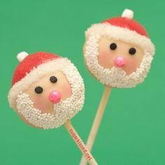 Santa Christmas Cake Pops by sugarkissed.net (Janine), via Flickr