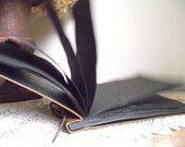 Vintage Album Scrap Book, Brown Faux Leather, Empty Pages