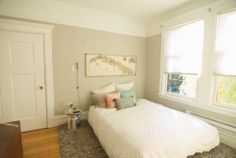 The Look For Less: Molly's Bedroom On A Budget. paint is Benjamin Moore Revere Pewter