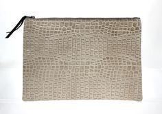 CROCO Leather Oversized Clutch from STUDIOSBYJ