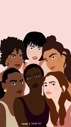 Girl Power Tattoo, Girl Tattoos, Power Girl, Hand Tattoos, Sleeve Tattoos, Black Girl Art, Art Girl, Woman Illustration, Girl Illustrations