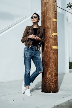 By Taye Hansberry - Stuff She Likes Casual Friday in Spring Leather and Denim http://www.stuffshelikes.net