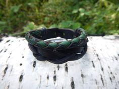 Leather double bracelet Letters leather braided by RozaBracelets