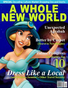 Jasmine -- What If Disney Princesses Were Magazine Cover Models? Walt Disney, Disney Girls, Disney Love, Disney Magic, Disney Jasmine, Disney Stuff, Disney And Dreamworks, Disney Pixar, Disney Characters