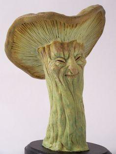 OOAK Green Woodland Mushroom Art Doll Faerie in by TribalFaeries, $125.00
