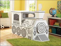 Discovery Kids Cardboard Train...great activity for the kids:)