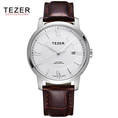 US $50.98 - Brand TEZER 2016 New Women'S Watches Quartz Dress Watch Women Sapphire Waterproof 30M Outdoor Sports Leather Strap Watch AB1960
