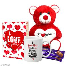 Accessories Delight Gifts(Pack Of 4)  Material: Mug - Ceramic Greeting Card - Paper Teddy Bear - Imported Size : Greeting Card : A4 Teddy Bear - 6 in           Capacity : Mug - 325 ml Description: It Has 1 Piece Of Mug & 1 Piece Of Greeting Card & 1 Piece Of Teddy Bear & 2 Pieces Of Chocolate Work : Mug - Printed Greeting Card - Printed Country of Origin: India Sizes Available: Free Size   Catalog Rating: ★4.1 (1537)  Catalog Name: Delight Gifts Combo Vol 8 CatalogID_161917 C127-SC1621 Code: 153-1274373-108