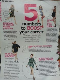 5 numbers to boost your career - Glamour