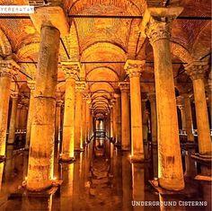 很多人都知道伊斯坦布爾的地下水宮實際上是個大蓄水庫,讓人驚嘆的是古羅馬時代的建築工匠能把水庫也蓋的美崙美奐! ©senertekci