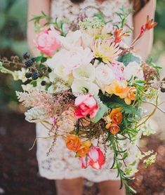 whimsical wedding bouquet---maybe with fall colors instead but I love it