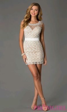 white lace dress promgirl simple