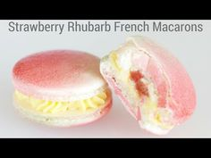 Strawberry Rhubarb Macarons   How to make french macarons - YouTube