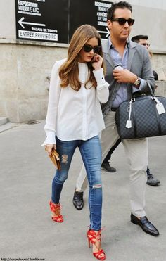 The Olivia Palermo Lookbook : Paris Fashion Week : Olivia Palermo at Veronique Leroy