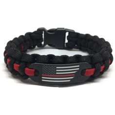 Home & Garden Active 550 Paracord Survival Bracelet Thin Red Line Support Firefighters Firemen Hero Handmade Bracelet Wrishband Wrish Band