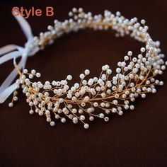 Classy Gold Headpieces Accessories 2019 Metal Crystal Bridal Hair Accessories – Art – - Hairstyles For All Simple Jewelry, Cute Jewelry, Hair Jewelry, Bridal Jewelry, Wire Jewelry Designs, Handmade Wire Jewelry, Beaded Jewelry, Halloween Schmuck, Halloween Jewelry