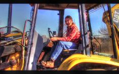 16 Year Old Girl Learning To Operate Cat 416 Backhoe | Homestead Kids