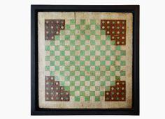 STEVEN S. POWERS - Folk Art Game Board - Halma