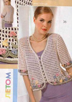 This Pin was discovered by HUZ Crochet Jacket, Knit Jacket, Crochet Cardigan, Knit Crochet, Knitting Patterns, Crochet Patterns, Crochet Woman, Beautiful Crochet, Top Pattern