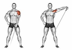 Illustration about Ups of hands forward with one dumbbell. Exercising for bodybuilding. Target muscles are marked in red. Illustration of workout, marked, front - 43667084 Gym Tips, Gym Workout Tips, Biceps Workout, Ab Workouts, Cable Machine Workout, Cable Workout, Weight Training Workouts, Shoulder Workout, Shoulder Exercises