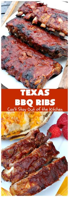 Nothing says a BBQ like some delicious ribs. These tender and juicy BBQ ribs recipes will be a big hit at your next cookout! Pork Rib Recipes, Barbecue Recipes, Grilling Recipes, Cooking Recipes, Smoker Recipes, Texas Bbq Sauce, Barbecue Sauce, Bbq Rib Sauce, Homemade Bbq