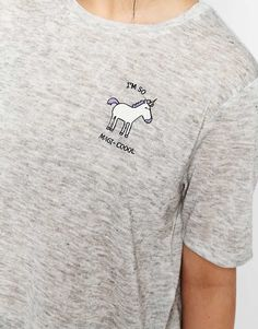 Image 3 of ASOS T-Shirt With Unicorn Print