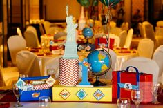 Sebastian's Airplane Themed Party – Table centerpiece