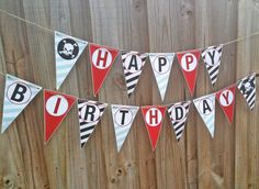 Pirate Happy Birthday Banner DIY - Pirate Party Collection