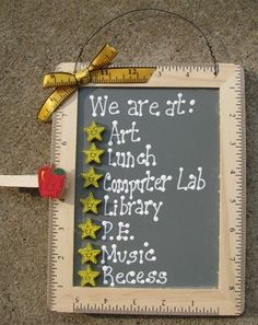 Teacher Gifts 2709 We Are at Stars | eBay {love the frame idea}