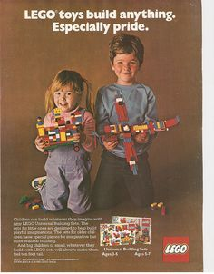 This is how they advertised Lego with girls in 1981. Wouldn't it be nice if companies still marketed to girls like this?