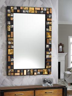 Espejo Mirror Wall Art, Beautiful Mirrors, Lampshades, Glamour, House, Furniture, Diy Ideas, Pearl, Interiors