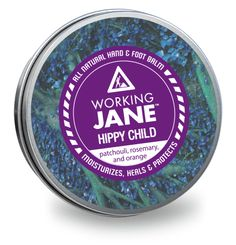 Working Jane Hippy Child - all natural hand & foot balm. Patchouli, rosemary and orange. Animals For Kids, The Balm, Moisturizer, Healing, Skin Care, Orange, Hippy, Children, Style Inspiration
