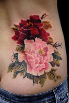 Peonies Tattoo. Absolutely beautiful.