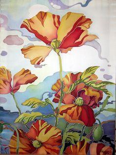 479 best silk painting flowers images on pinterest silk painting batik google mightylinksfo