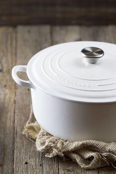 White Le Creuset Pot