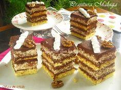 » Prajitura MalagaCulorile din Farfurie Malaga, Cake Cookies, Sweet Potato, Waffles, French Toast, Bakery, Good Food, Food And Drink, Cooking Recipes
