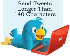 How to send tweets that are longer than 140 charatcters. http://www.ebay.co.uk/itm/How-To-Send-a-Tweet-of-More-Than-140-Characters-/390585250459?pt=US_Other_Software=item5af0b1f29b