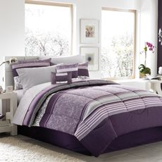 Have this & love it. Pinning so I can buy pillows later on. Jules Complete Bedding Set from Bed Bath & Beyond